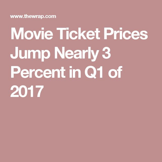 Movie Ticket Prices Jump Nearly 3 Percent in Q1 of 2017