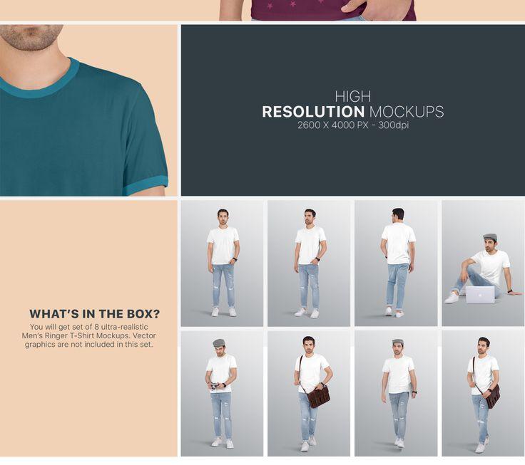 Download Men S Ringer T Shirt Mockup Set In Apparel Mockups On Yellow Images Creative Store Shirt Mockup Clothing Mockup Tshirt Mockup