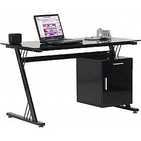 Kaper Black Glass Computer Desk  www.officefurnitureonline.co.uk