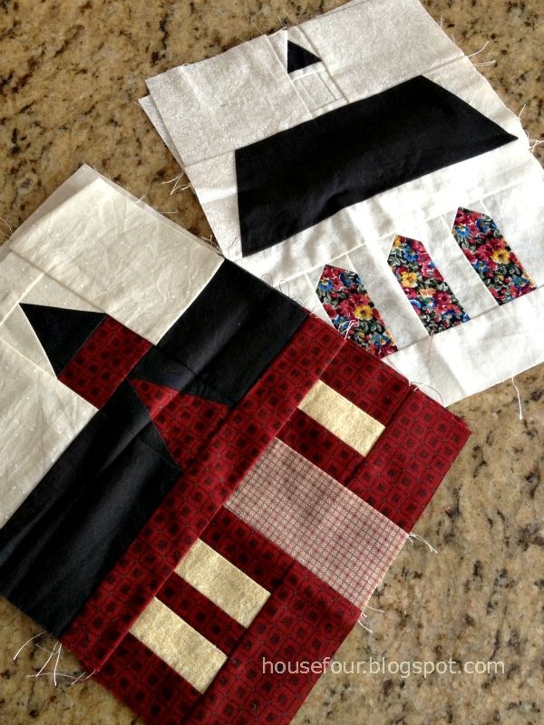 """My """"Around the Block"""" quilt at Housefour.blogspot.ca __like the stained glass windows"""