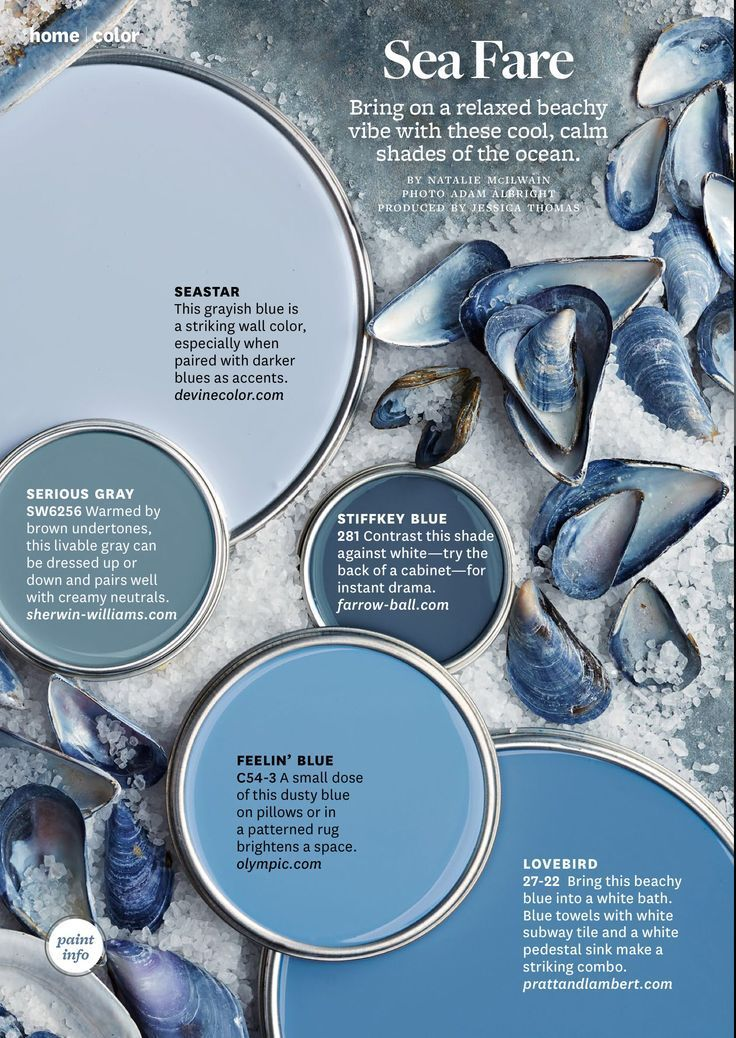 Coastal Blue and Gray Paint Colors