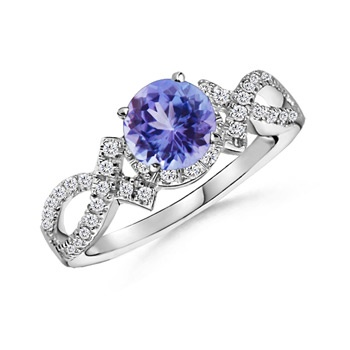 Blue Diamond with Small White Diamonds Ring. if i have the money one day ill buy this for you kristina.