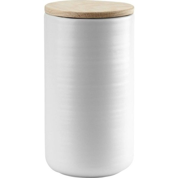 SKAGERAK Fulla ceramic canister 20cm (77 CAD) ❤ liked on Polyvore featuring home, kitchen & dining, food storage containers, tea canisters, ceramic cannisters, ceramic food storage containers, tea cannister and ceramic canisters