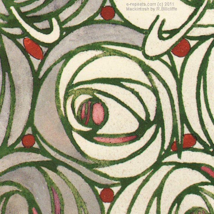 Mackintosh rose wallpaper