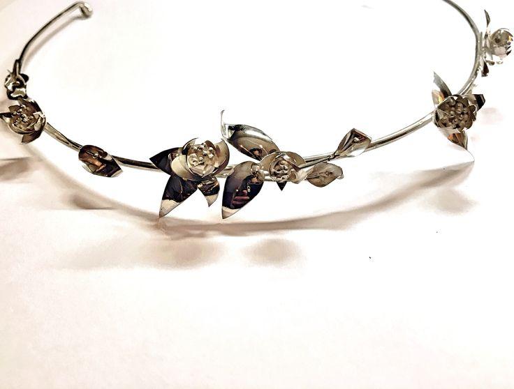 Silver bridal Tiara by Minette Arlow Jewellery