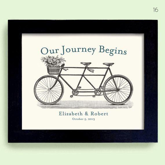 bicycle themed wedding art print                                                                                                                                                     More
