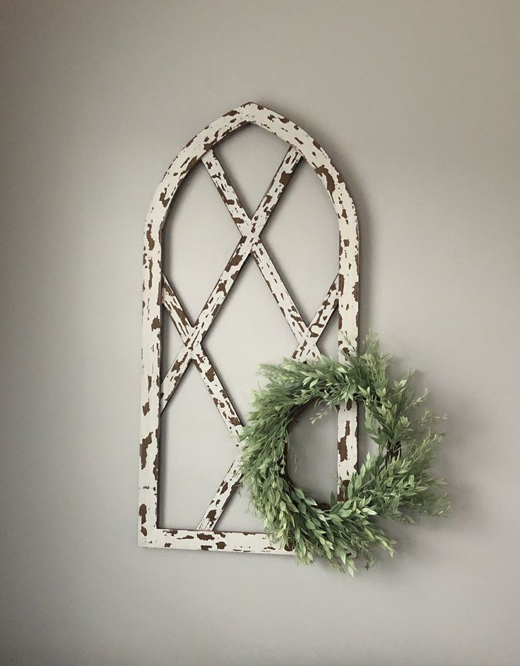 Chippy White Arched Wood Wall Decor | Wood wall decor ...