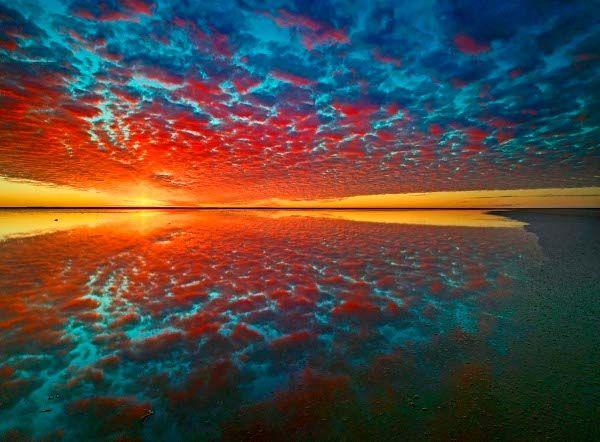 Reflections at Lake Eyre, South Australia
