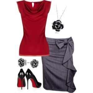 Love the grey and red, my colors, my style