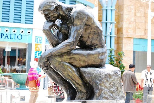 Thinking Man Statue - Sentosa   Flickr - Photo Sharing!