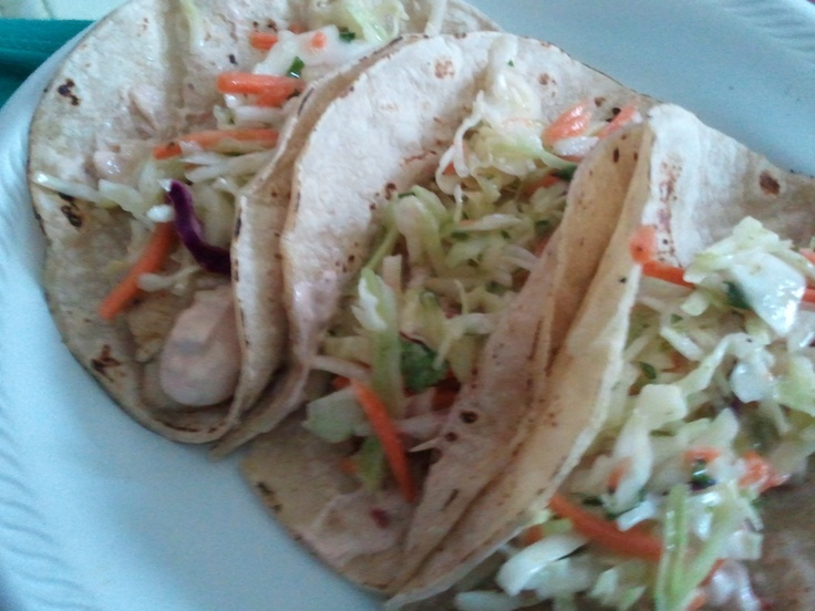 Tilapia fish tacos with a creamy chipotle sauce and crisp cilantro ...