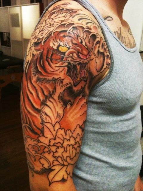 half sleeve artist zack spurlock tiger tattoo pinterest sleeve half sleeves and tigers. Black Bedroom Furniture Sets. Home Design Ideas