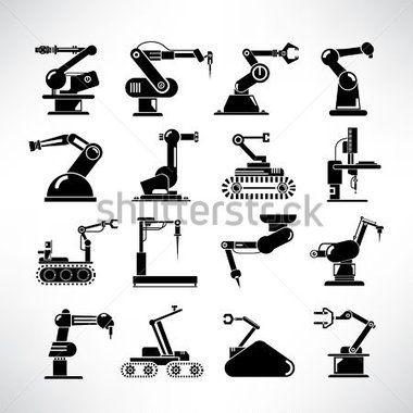 Robot Conjunto DE Iconos, Iconos DE Robot Industrial, Conjunto DE Brazo Robótico, Rescate Robots vectores en stock - Clipart.me