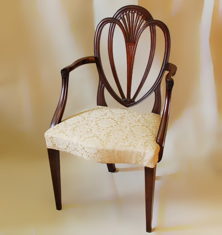 English Renaissance Hepplewhite Cabinet Maker And Chair