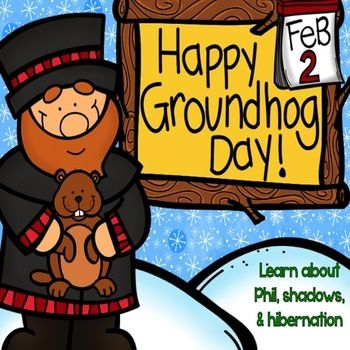 Happy Groundhog's Day! -- such a fun way to celebrate this holiday while including reading, writing, and SCIENCE!! Shadows, Hibernation and more!