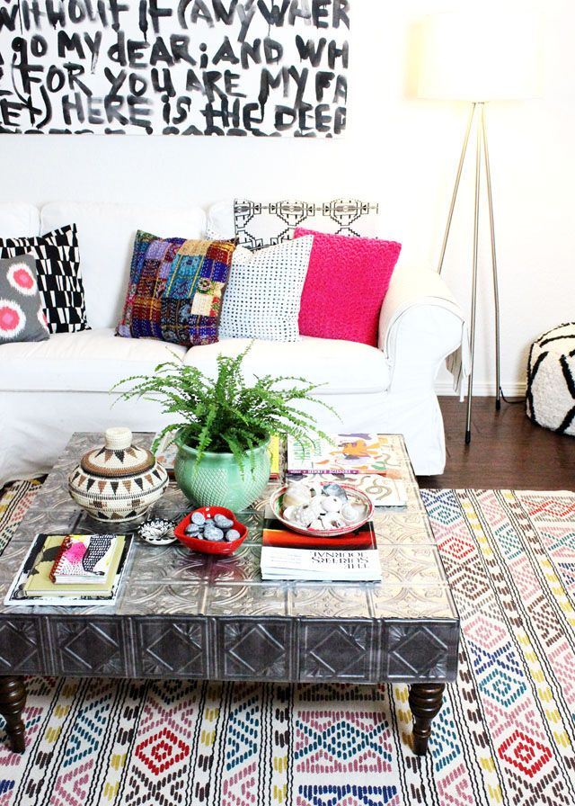 tin tile coffee table