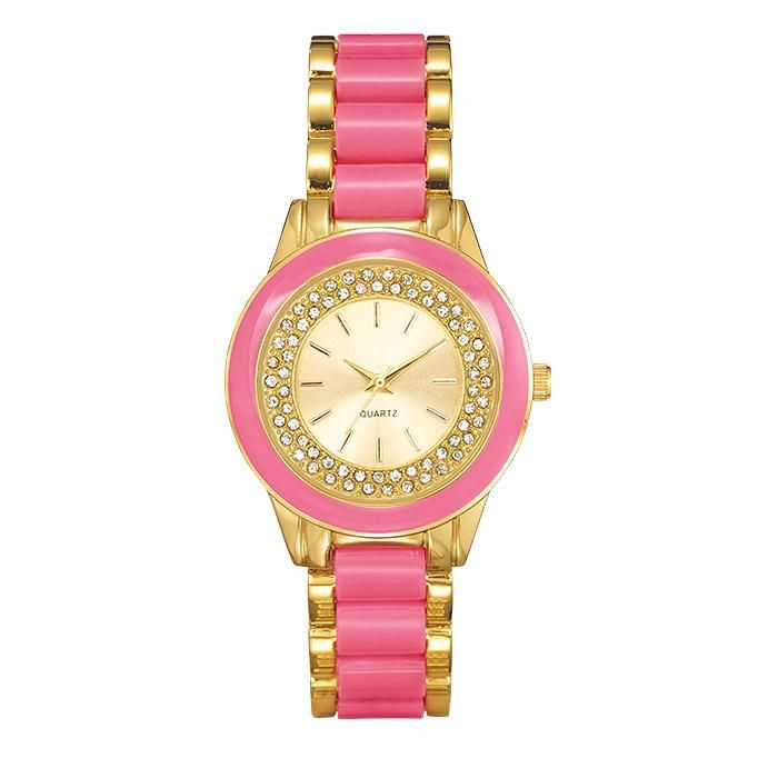 "Pretty Chic Bracelet Watch. Avon. The posh look of enamel. 7 3/4"" L. Available in Pink, White and Lavender. Regularly $29.99.  NEW & NOW! FREE shipping with any $40 online Avon purchase.  #CJTeam #Avon #Style #Sale #Jewelry #Fashion #Watch #Avon4me #C9 #Mom #MothersDay #PrettyChic #Gift Shop Avon jewelry online @ www.TheCJTeam.com"