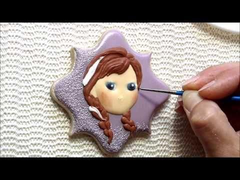 Disney Frozen Anna cookie tutorial