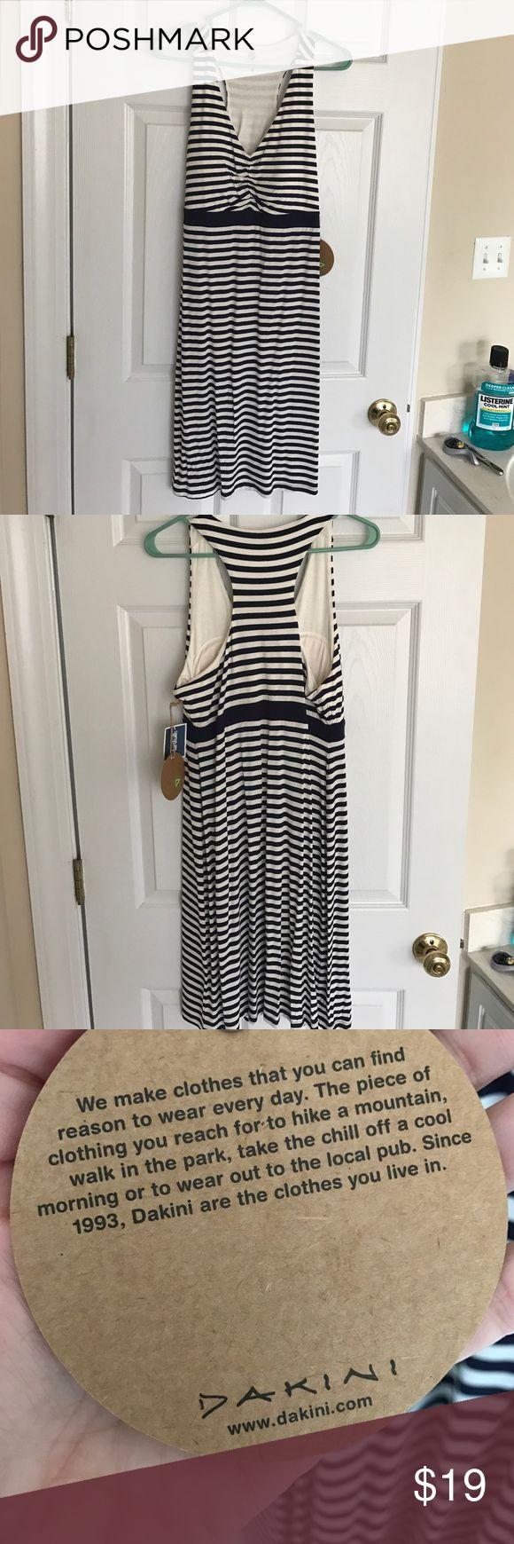 Dakini blue and white weekend dress Blue and white strip! NWT! Size Large dakini Dresses Midi