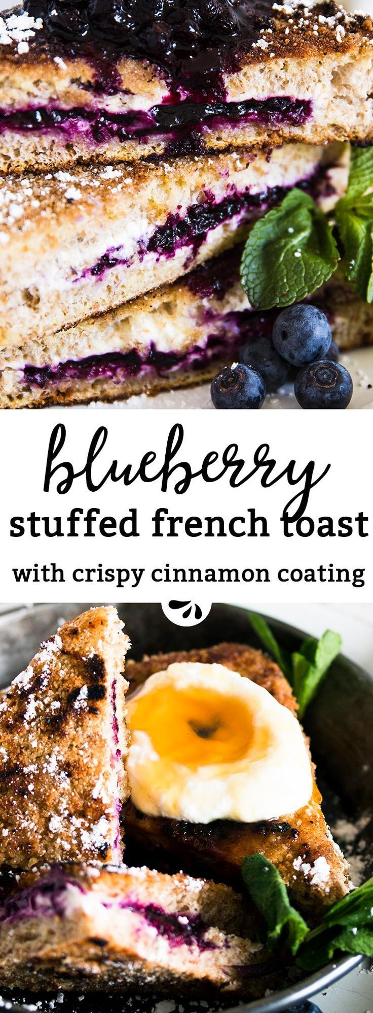 Healthy Blueberry Cheesecake Stuffed French Toast