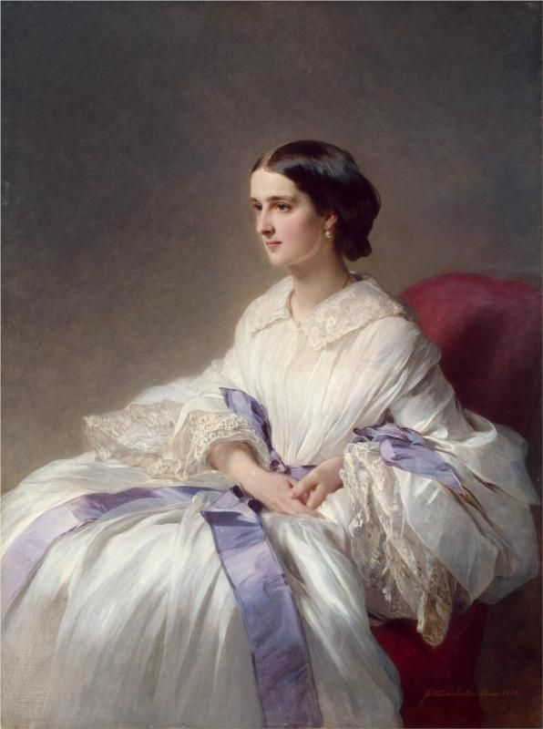 Countess Olga Shuvalova (c.1858).Franz Xaver Winterhalter (Alemania, 1805-1873) Academicismo Burgués -Art Pompier