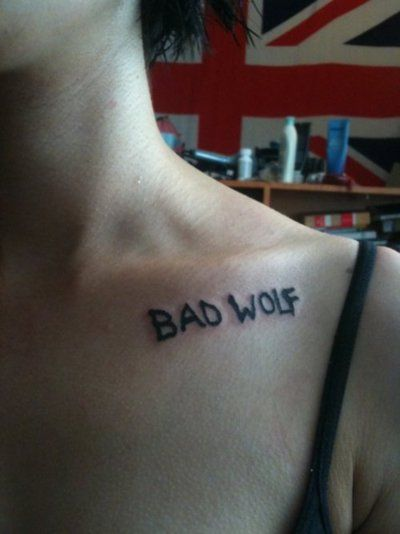 """This would be super cool on the back of the neck!"" - DOCTOR WHO TATTOO!!"