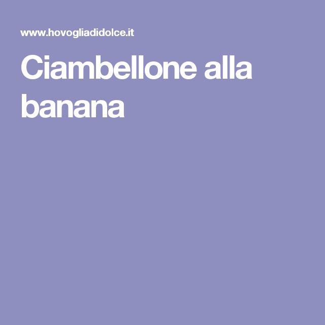 Ciambellone alla banana