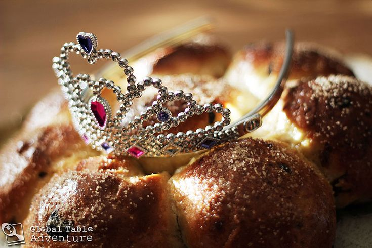 "It's almost time for King's Cake! (On January 6 bake this bread and hide an almond in it... whoever gets it is ""king"" for the day)."