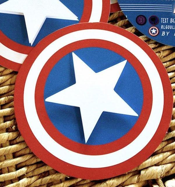 Invitaciones de cumpleaños de Capitán America - http://xn--manualidadesparacumpleaos-voc.com/invitaciones-de-cumpleanos-de-capitan-america/