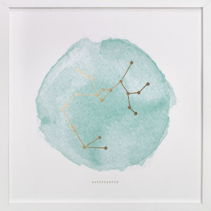Sagittarius by annie clark at minted.com: I could totally make this
