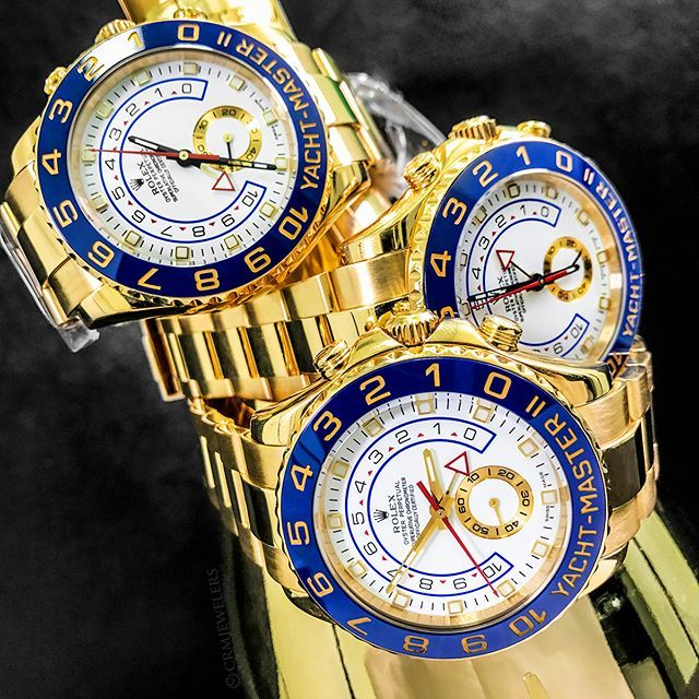 Stacking up what really  matters in this life that's  Rolex Yachtmaster II's!  DM for pricing! . . . .