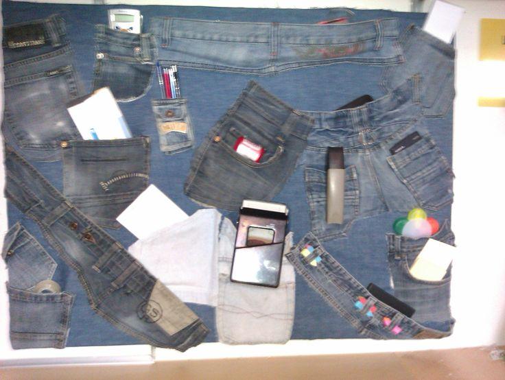 Spijkerbroekopbergsysteem voor op kantoor