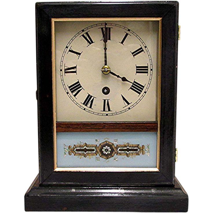 Antique American mantel clock or cottage clock, 100% original and fully restored,  circa 1860 – 1870.  Antique Vintage clocks @rubylanecom www.rubylane.com #vintagebeginshere