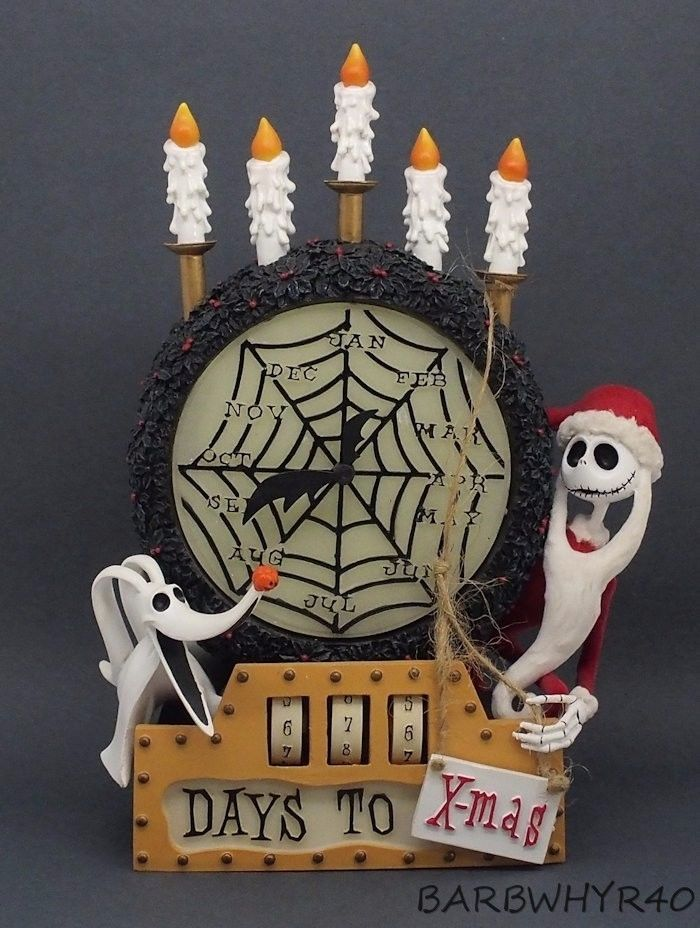 Nightmare Before Christmas Countdown Clock w/ Jack & Zero in the Original Box in Toys & Hobbies, TV, Movie & Character Toys, Disney | eBay
