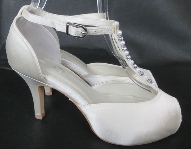 *BNWT* BHS Wedding Collection Ivory Satin Shoes Wide Fit Bridal 3 4 5 6 7 8