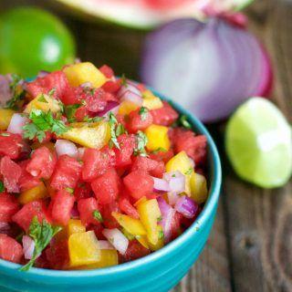 Watermelon Salsa (GF, DF, V) - A Dash of Megnut