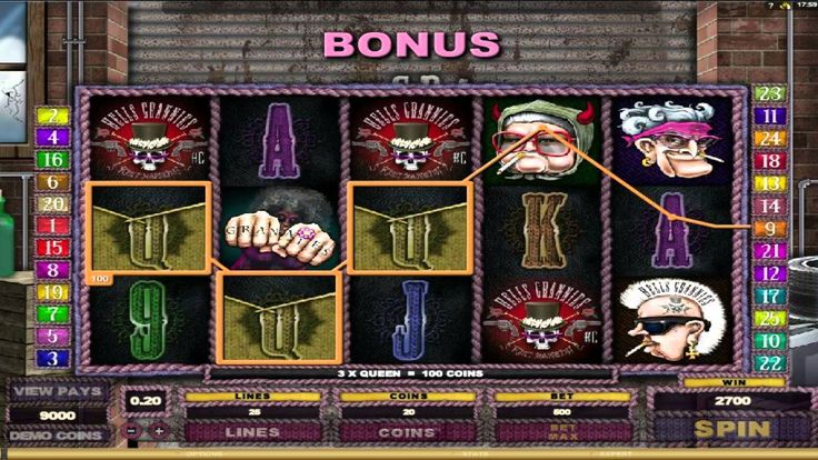 Hells Grannies ™ free slot machine game preview by Slotozilla.com