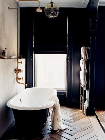 COCOCOZY: COLOR WATCH: DARK ROOMS - PITCH BLACK AND NAVY BLUE WALLS ARE BACK!