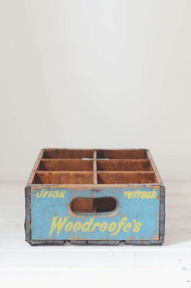 Lily and Bramwell | Event hire Adelaide, South Australia   Woodroofe's drinks crate  Both functional and decorative, for a vintage/rustic themed event or wedding.