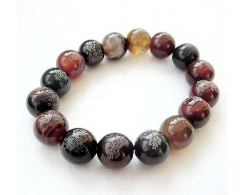 12mm Agate Beads Tibetan Buddhist Mala Bracelet Ovalbuy. $4.99. Beads Size: 12 mm. Elastic Cord. Free Jewelry Pouch. Handcrafted by ovalbuy
