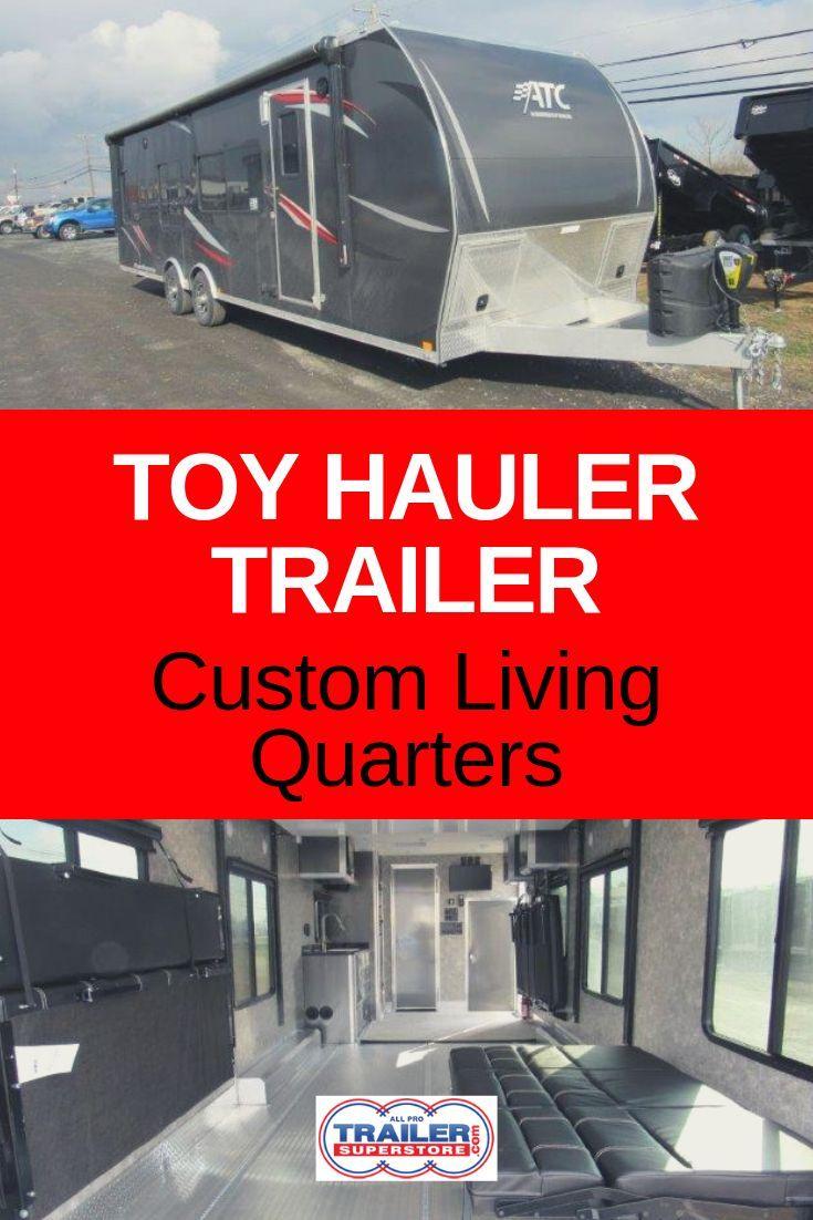 ATC 8.5 x 28 ARV Aluminum Toy Hauler Customizable Toy