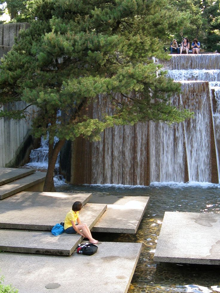 Keller Fountain Park, Portland, Oregon.  Designed by Lawrence Halprin
