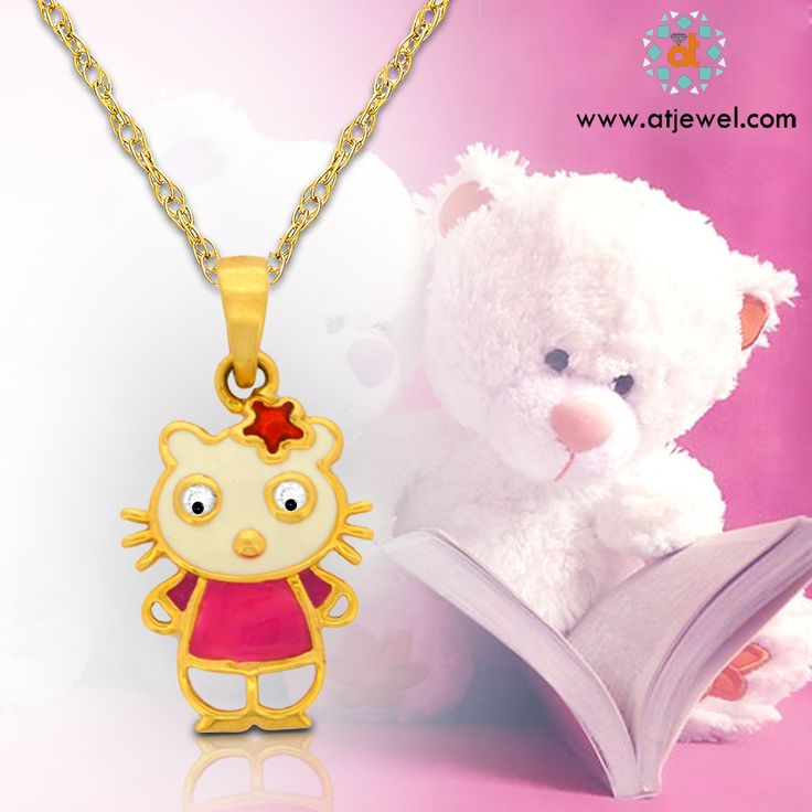 Cute Jewellery are the Cutest Way Of Expressing Your Love.Wish You a Very Happy Teddy Day..... #Atjewel #Pendants #Gold #Tiny CUTY PENDANT