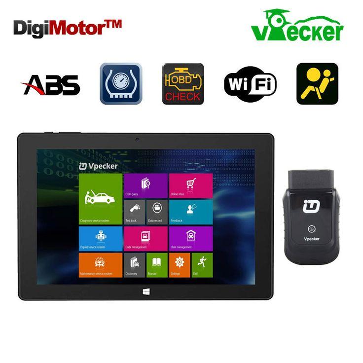 Win10 10.1 Inch Tablet + Vpecker Easydiag Scaner Automotriz OBD2 Wifi Code Scanner Diagnostic Tool Automotive Diagnostic-Tool #Affiliate