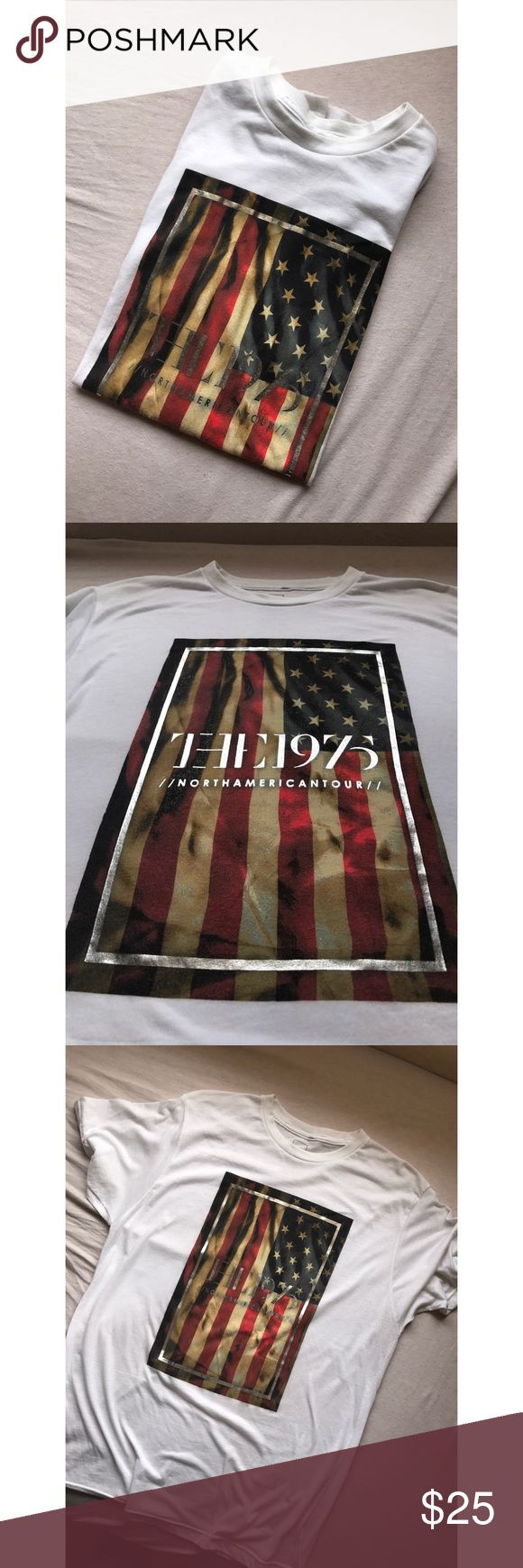 The 1975 North American 2014 Tour Only worn once. Really thin but super soft. Does not have the tour dates on the back. Unisex Large. Tops Tees - Short Sleeve
