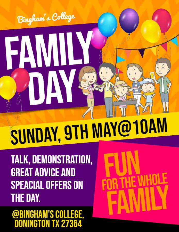 Family Day Event Poster Flyer Design Template Event Poster Event Poster Template School Event Flyer