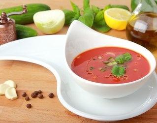 #Gazpacho #pomidorowe ze śmietaną bazyliową