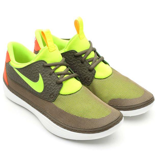 Nike Solarsoft Moccasin – Tarp Green/Volt got em