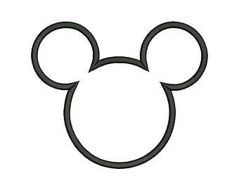 R sultat de recherche d 39 images pour contour tete mickey tricotin applique design disney - Coloriage tete mickey ...