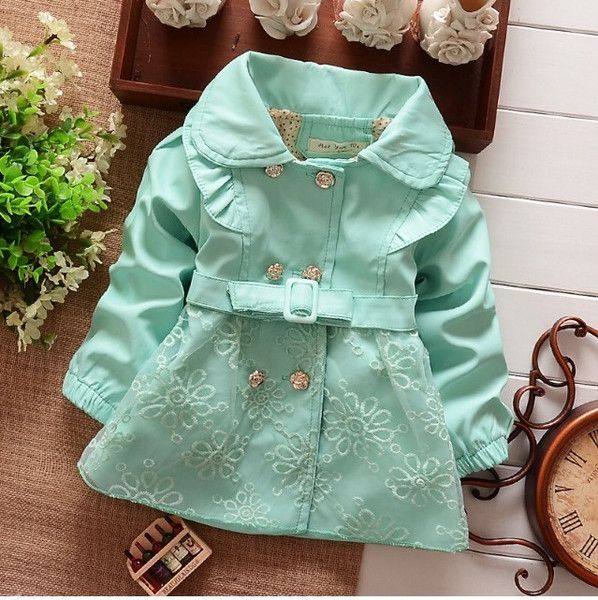 Girls cardigan, children's coat children pink cotton Lace kids clothing. 3 colors.